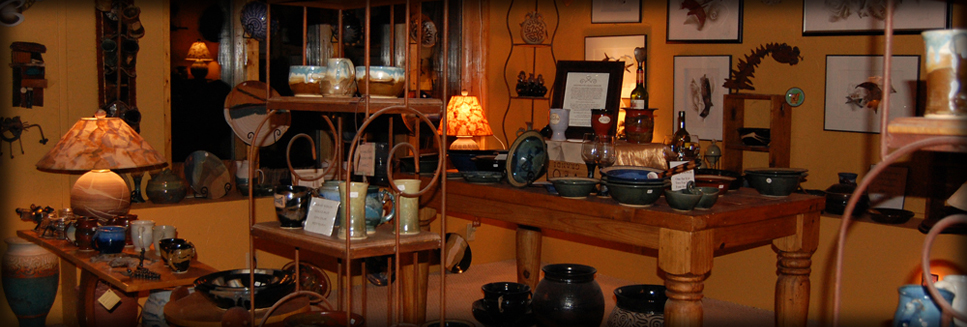 Pottery products on display in Hartland, Wisconsin