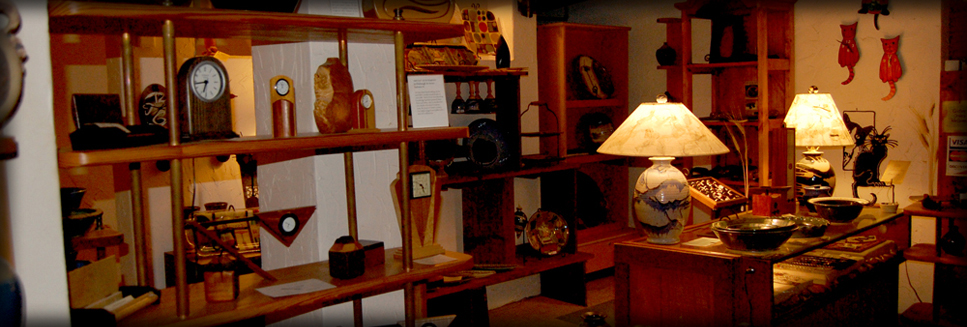Handmade clocks, lamps, pottery on sale in Hartland, Wisconsin