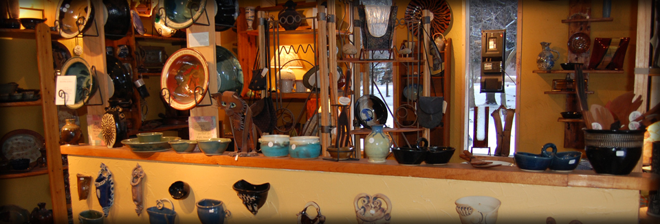 Ceramic bowls, wall hangings, handmade statues to buy in Hartland Wi Pottery Shop